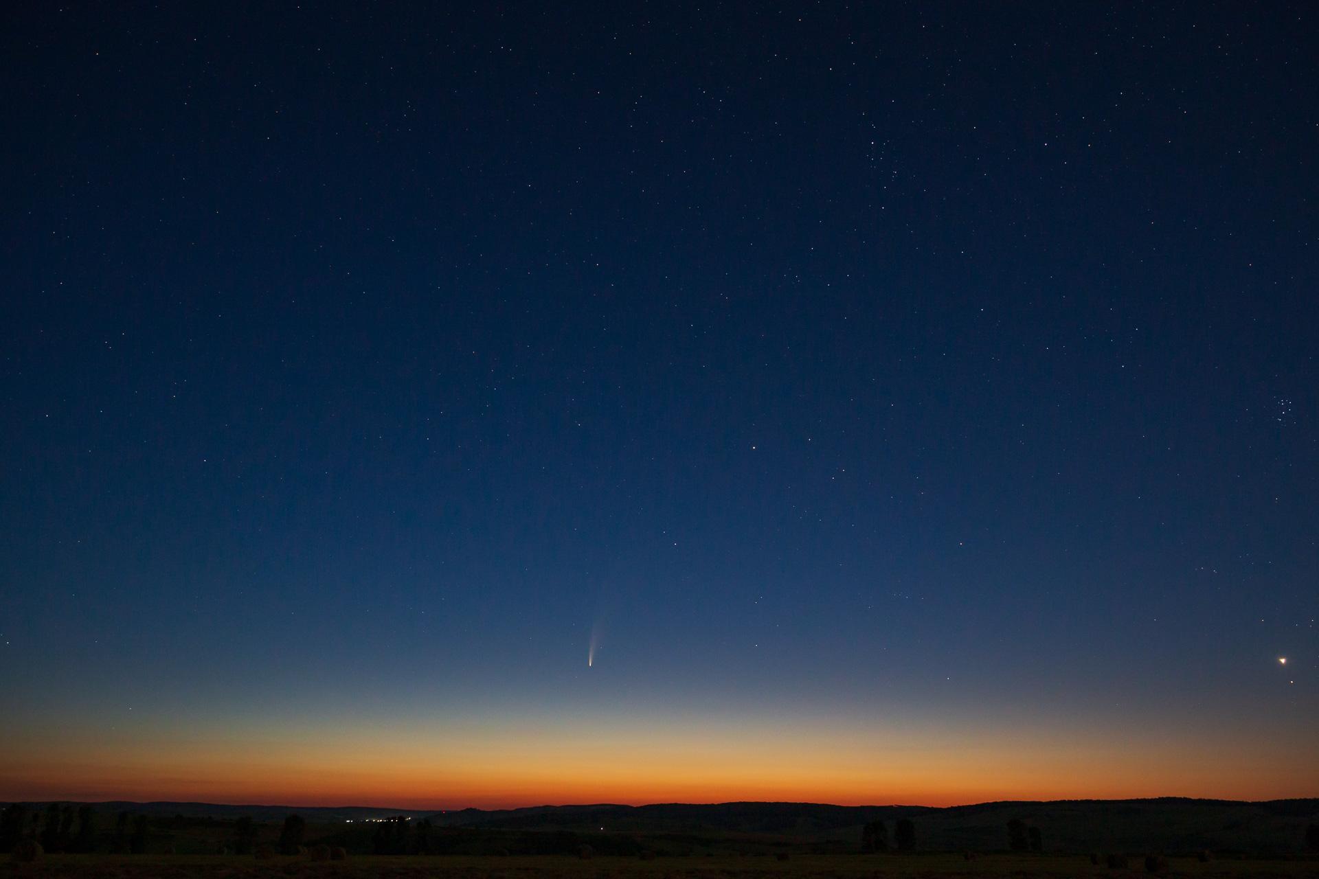 Cometa, eclipsa și curcubeul
